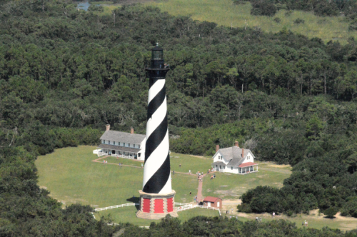 Cape Hatteras Lighthouse from the sky